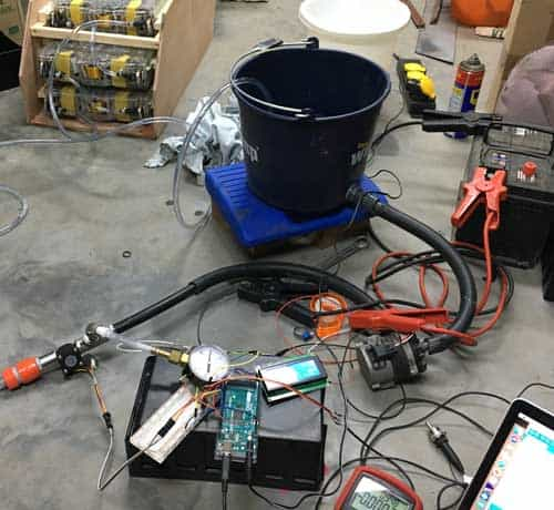 battery module flow test
