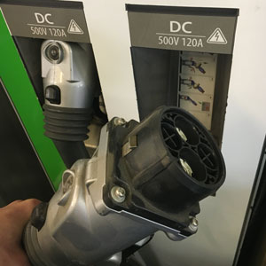 CHAdeMO fast charging EVSE connector