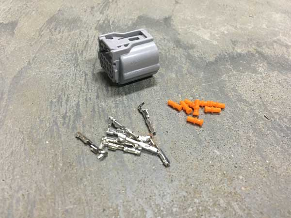 Connector kit for early Tesla airconditioning compressor